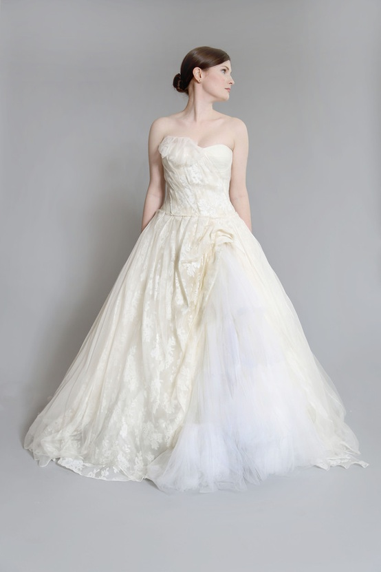 buy and sell high end designer wedding gowns at nearly