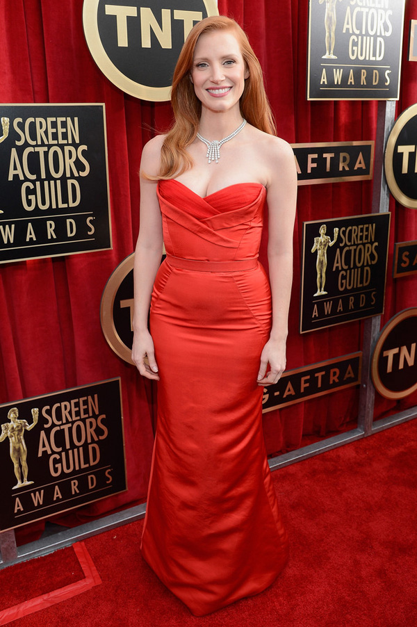 sag-awards-2013-Jessica Chastain-Alexander-McQueen