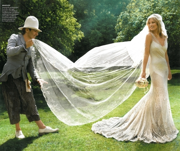 Celebrity Inspiration - Kate Moss\'s vintage inspired wedding dress ...