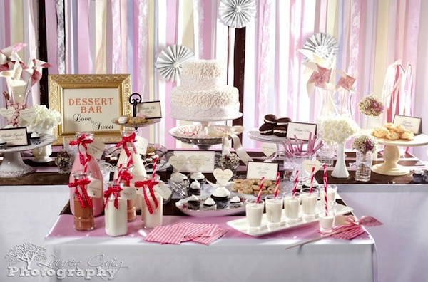 vintage-shabby-chic-wedding-dessert-bar-cake-treats-3