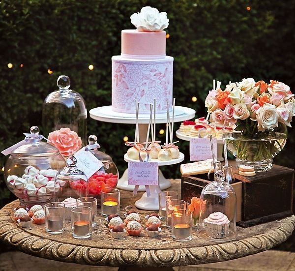 vintage-shabby-chic-wedding-dessert-bar-cake-treats-4