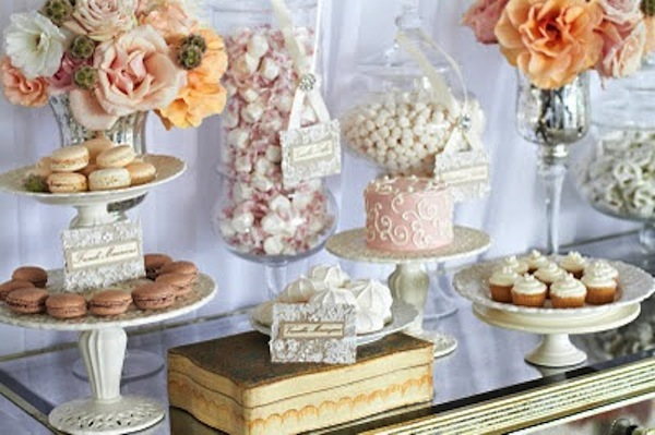 vintage-shabby-chic-wedding-dessert-bar-cake-treats-6