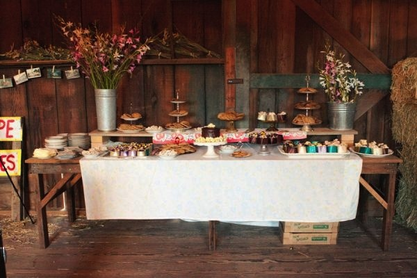 vintage-shabby-chic-wedding-dessert-bar-cake-treats-8