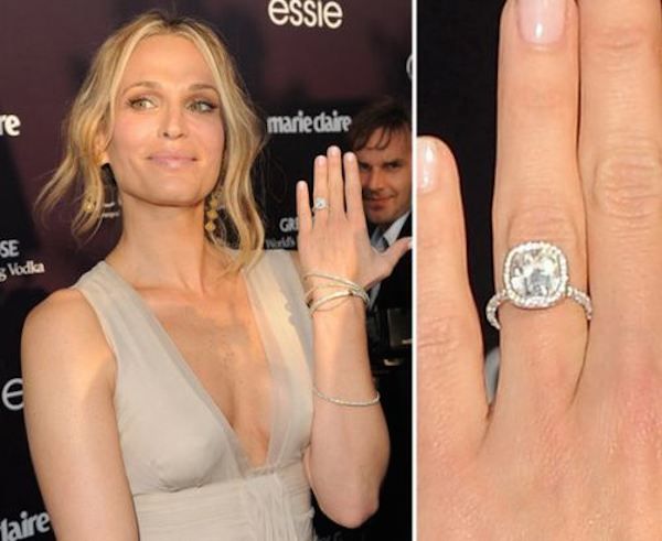 Celebrity Inspired Ring bling! Molly Sim's gorgeous vintage inspired engagement ring..