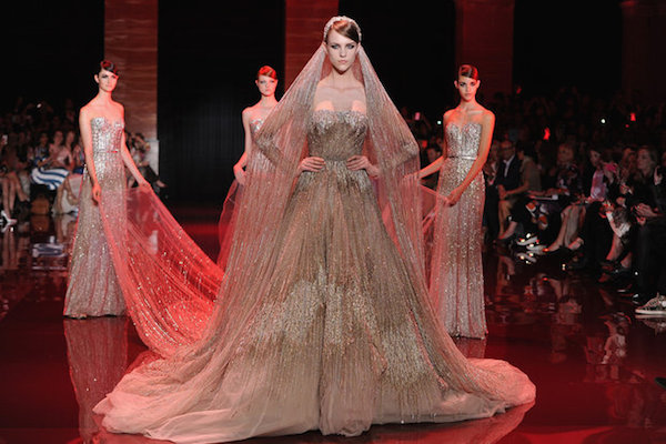 "Channel your inner ""Old Hollywood Royal Glam"" Bride with Elie Saab's stunning dresses at his Paris Haute Couture show Spring Summer 2014"