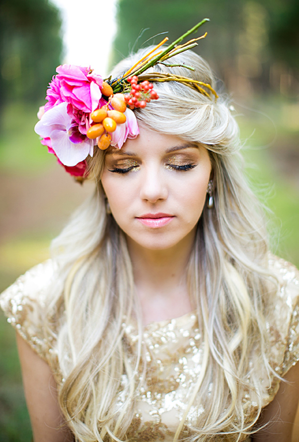 large-flower-crowns-floral-crowns-wedding-hairstyle-ideas-pink-flower-crown-with-fruit