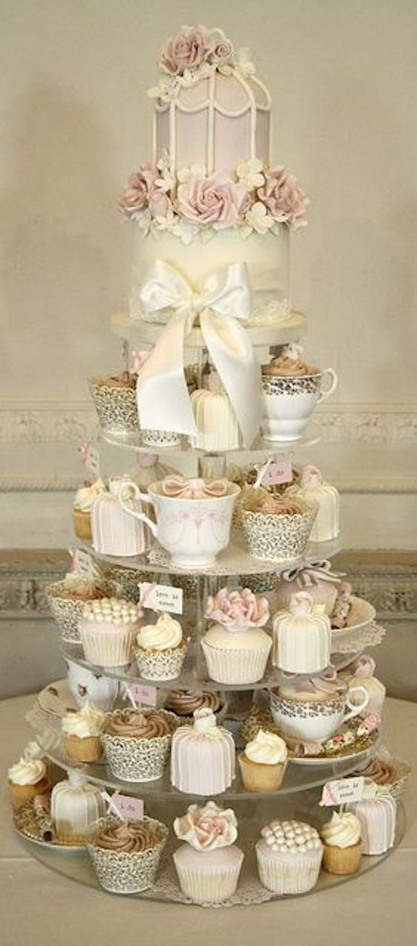wedding-cake-alternatives-cupcake-tower-vintage-inspired-cupcake-tower-shabby-chic-cupcake-tower-12