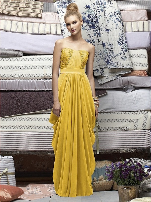 Dessy Bridesmaid Yellow Lela Rose Bridemaid Dress