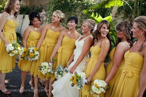 Yellow Bridemaid Dresses Dessy Summer Wedding